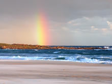 paisaje con arcoiris en cabo polonio