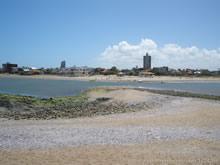 vista de la playa de la paloma desde la isla