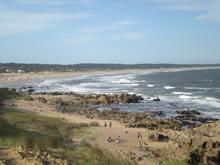 vista panoramica de la playa de la pedrera
