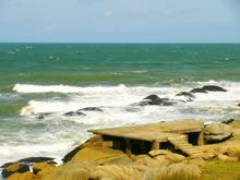 mar de la playa de santa teresa