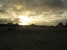 tarde nublada en la playa de valizas